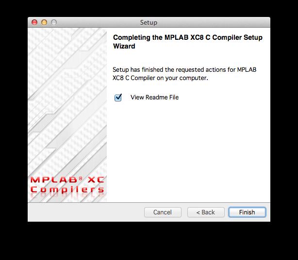 MPLAB XCコンパイラインストール11