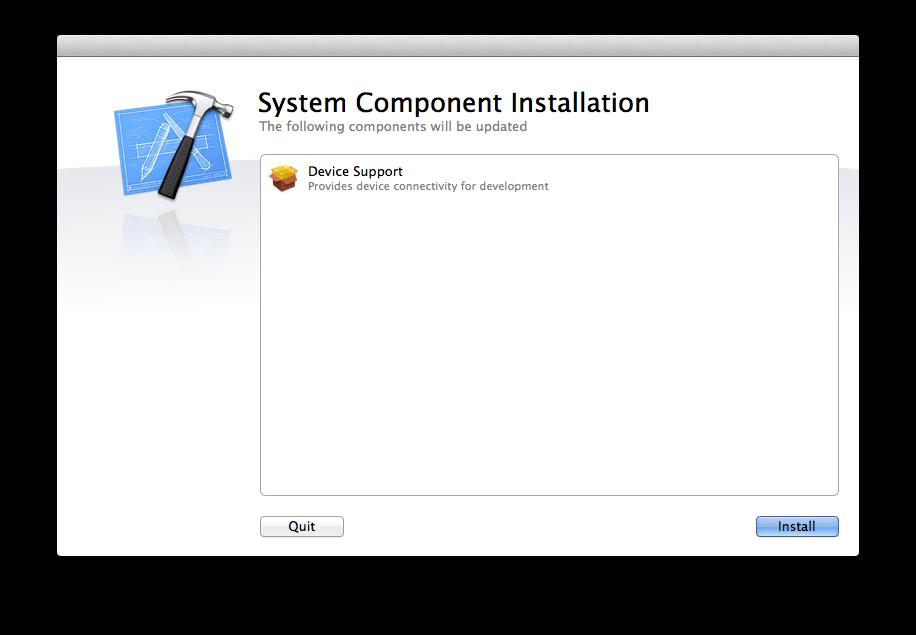 Xcode追加インストール