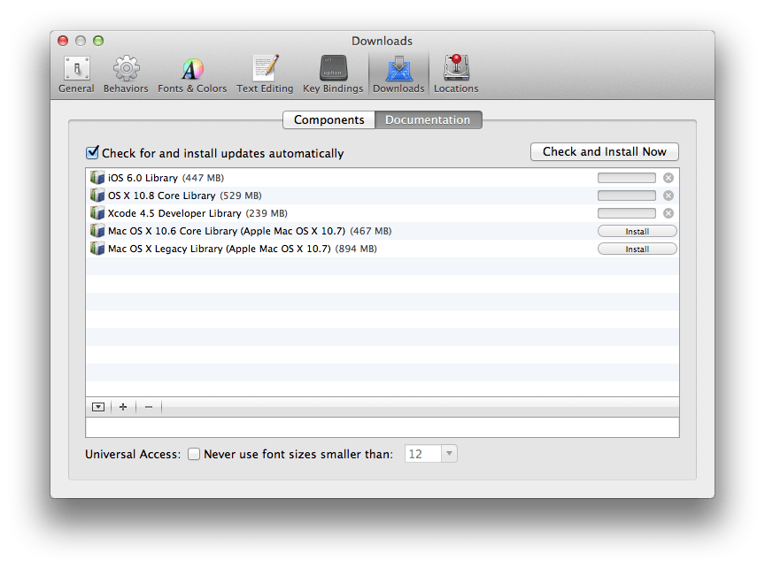 Xcode Preference Document Download