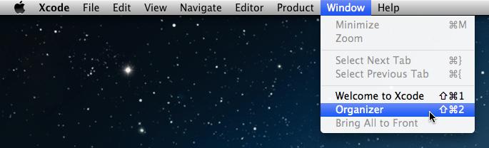 Xcode Organizer