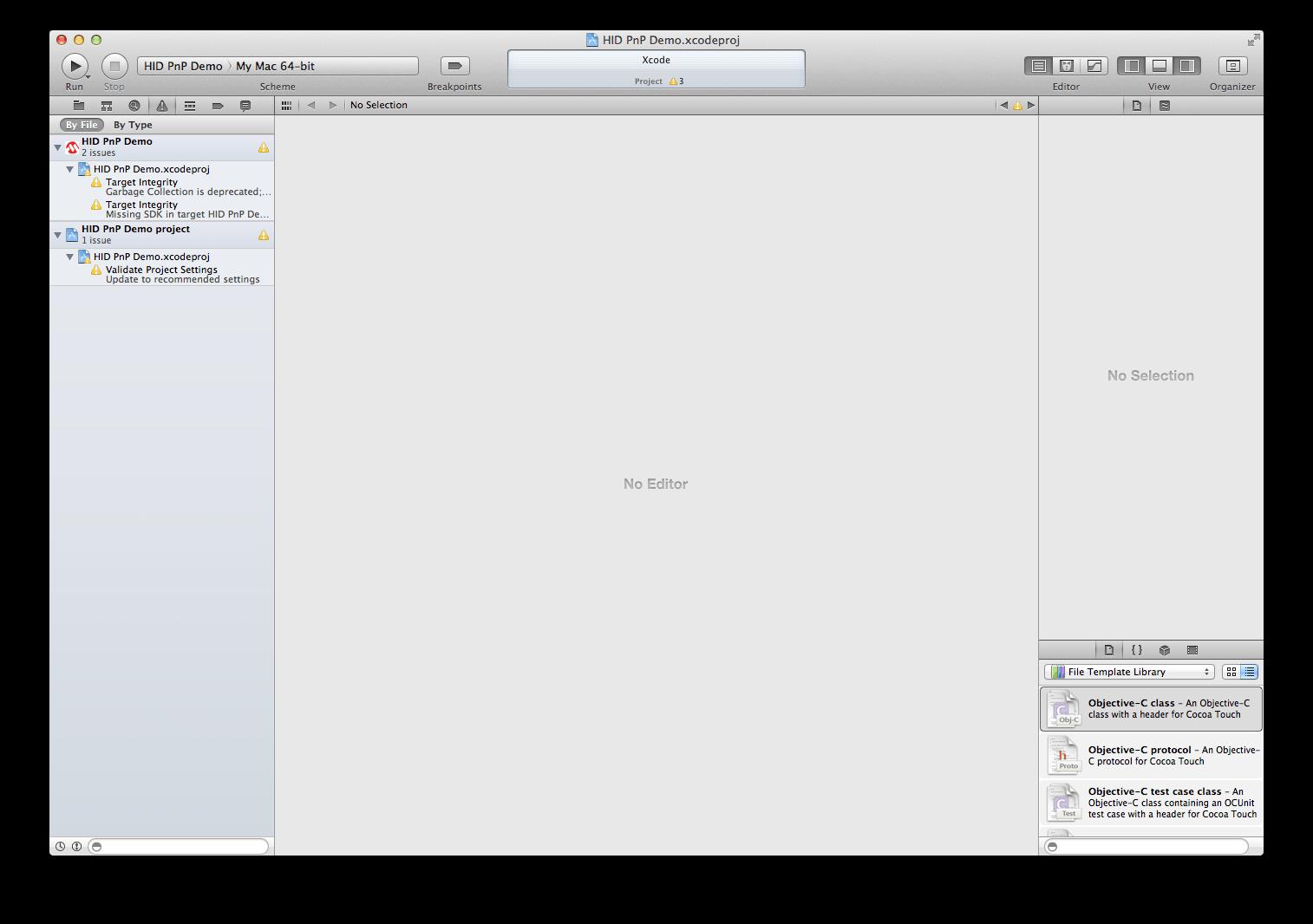 Project errors