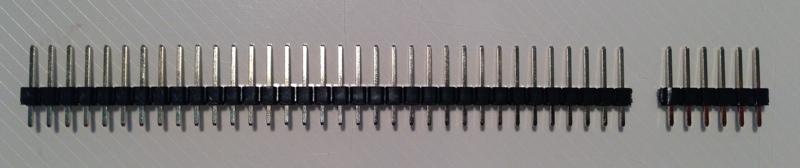 Cut pin header