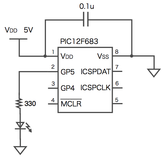 Led pic actual diagram