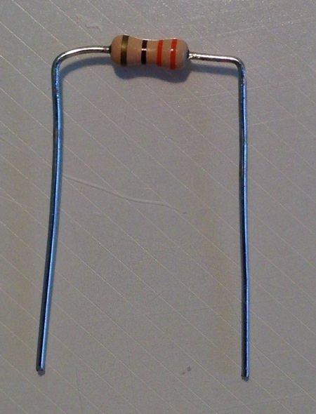Resistor bended