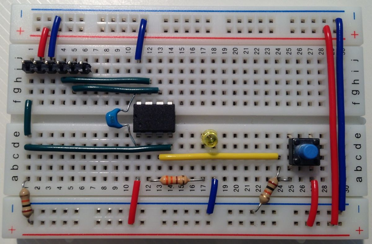 Breadboard with switch