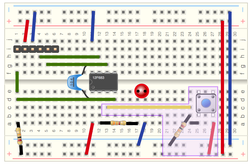 Breadboard with switch picture