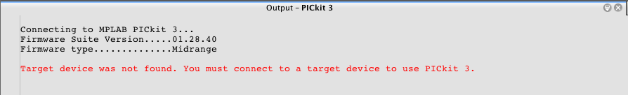 Pickit3 error no power