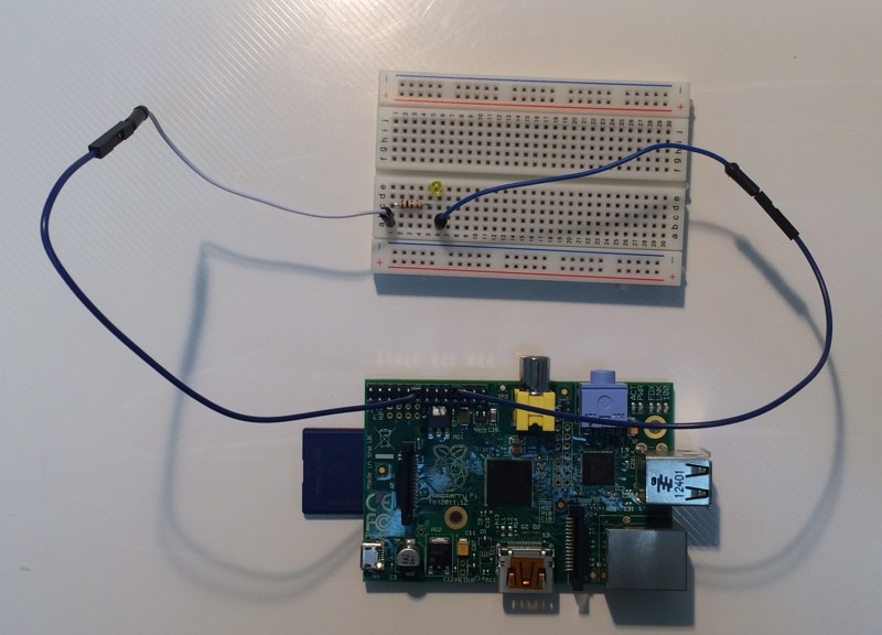 Raspi led wired connection