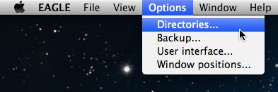 Eagle directory setting menu