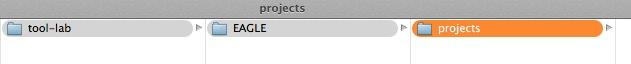 Eagle create projects folder