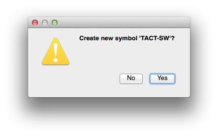 Creating new symbol confirmation