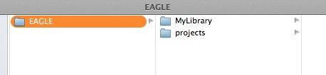 Eagle mylibrary folder