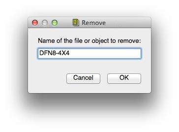Remove dialog