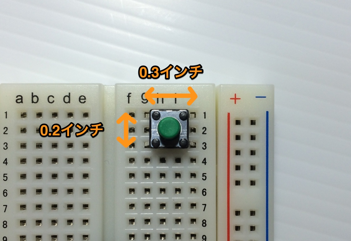 Tactsw breadboard size