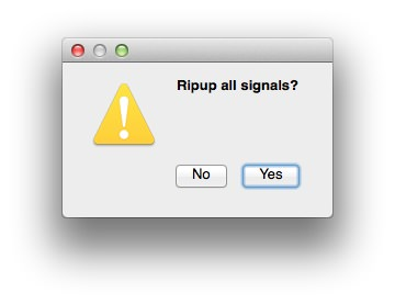 Ripup confirm