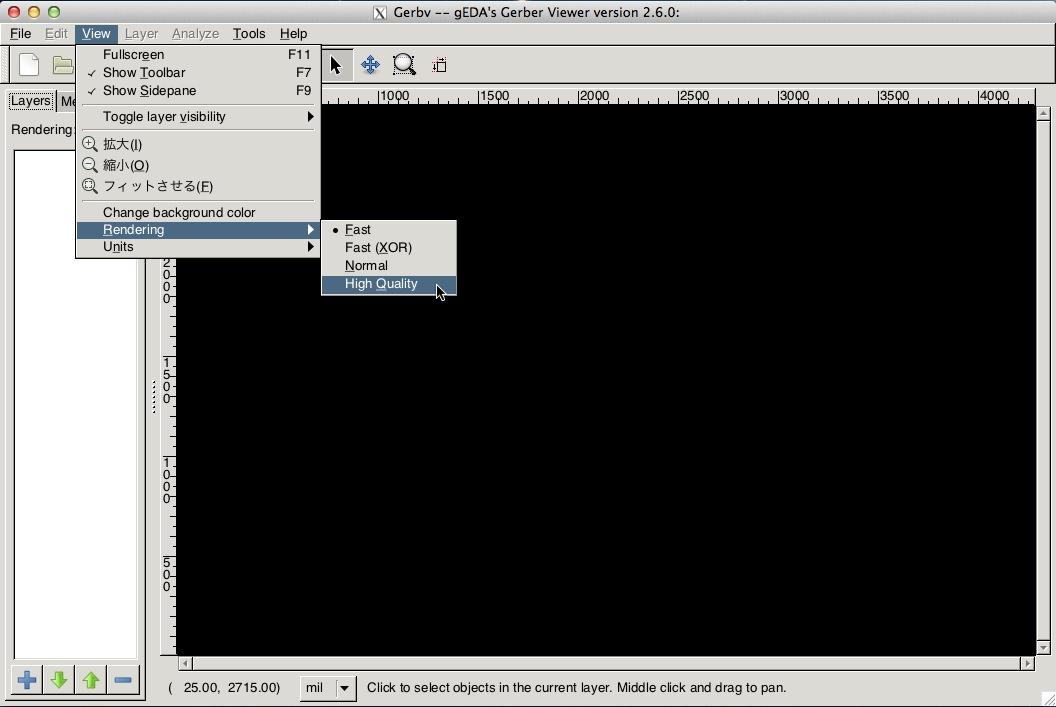 Gerbv rendering setting