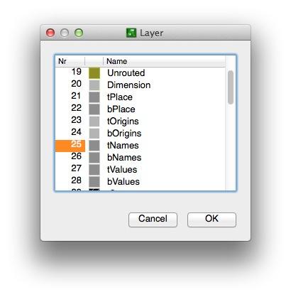 Select tnames