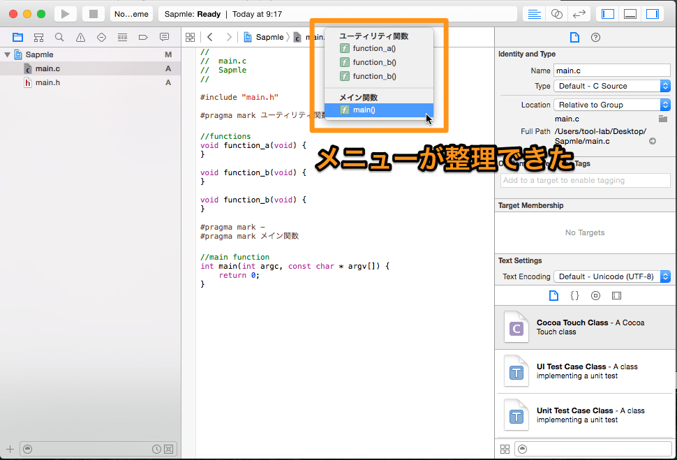 Function search pragma