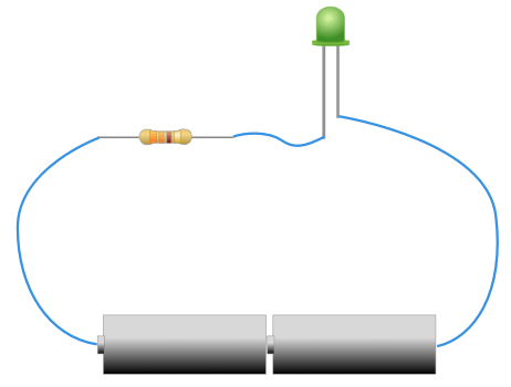Circuit led battery