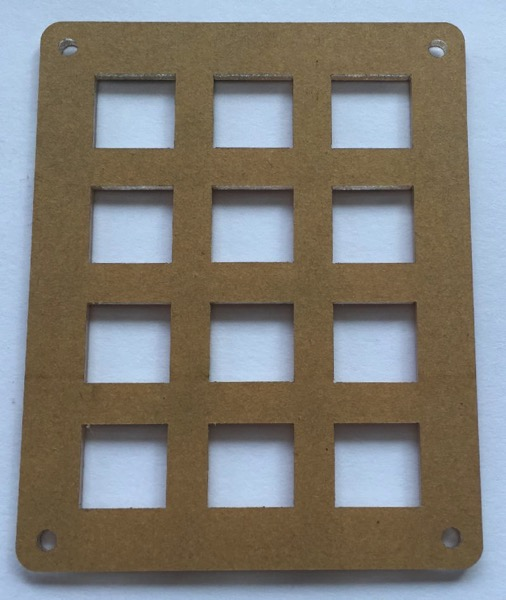 Keypad panel covered