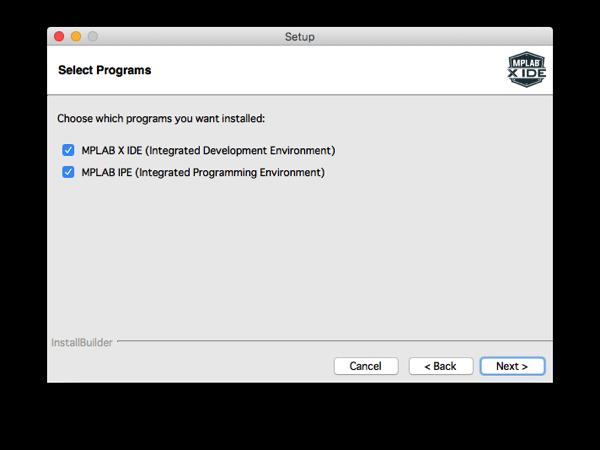 Mplabx install step 7