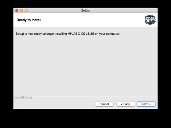 Mplabx install step 8