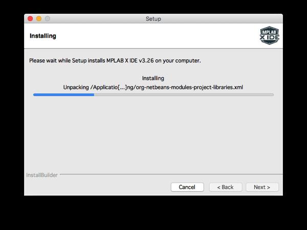 Mplabx install step 9