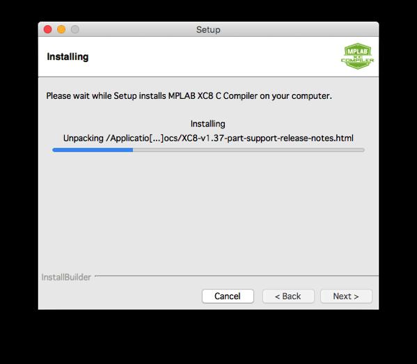 Xc8 install step 10