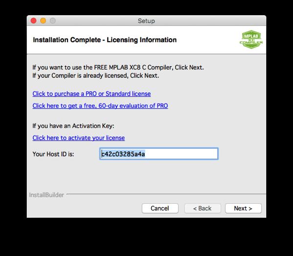 Xc8 install step 11