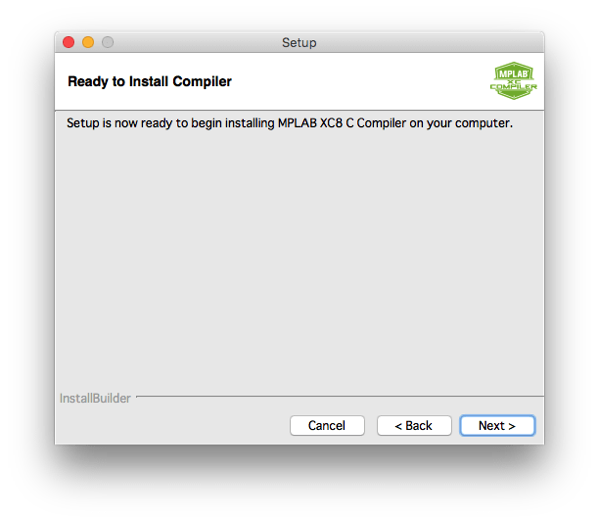 Xc8 install step 9