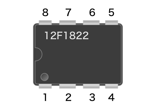 Pic12f1822 numbering