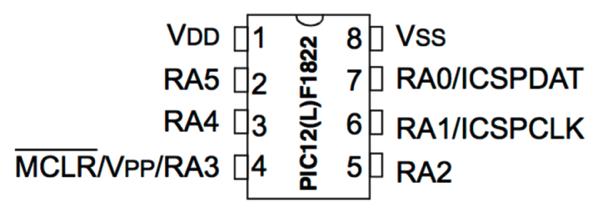 Pic12f1822 pins