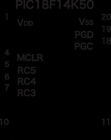 Pic18f14k50 circuit 1