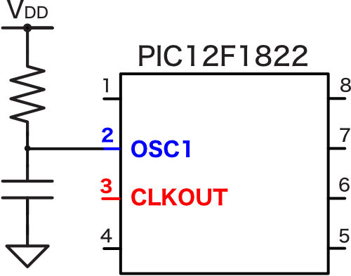 Pic12f1822 clock generation rc clkout