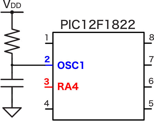 Pic12f1822 clock generation rc ra
