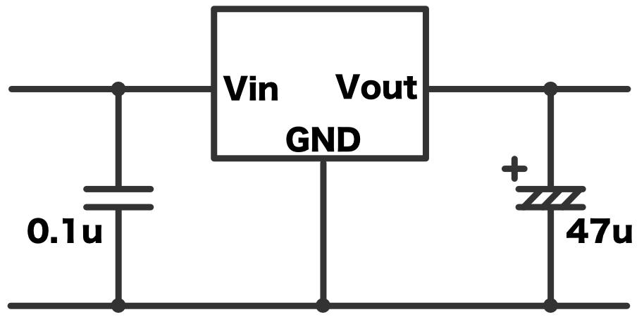 Pic practice 11 regulator schematic two capacitors