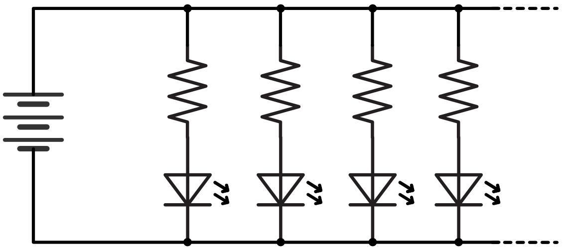 Pic practice 5 led circuit app