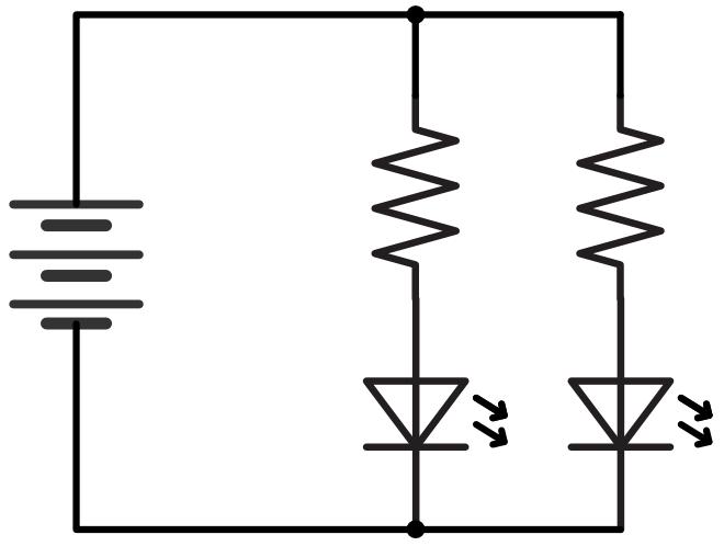 Pic practice 5 led circuit prarallel