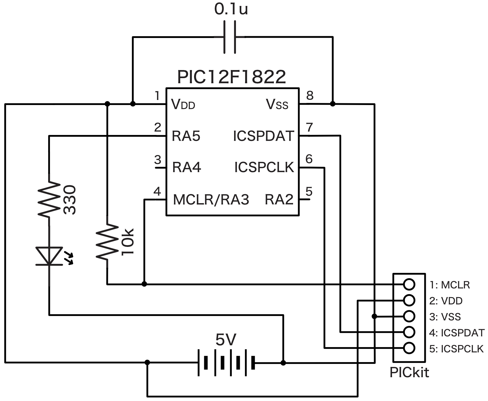 PICベース回路図