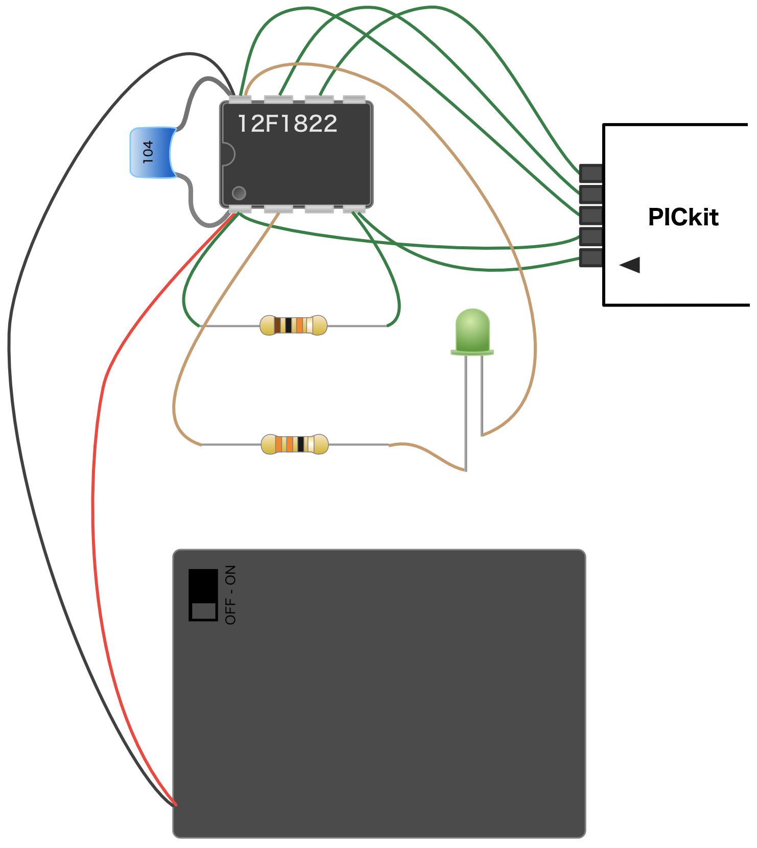 PICマイコン基礎編ベース回路