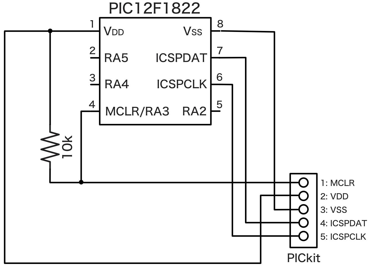PICkit接続回路図