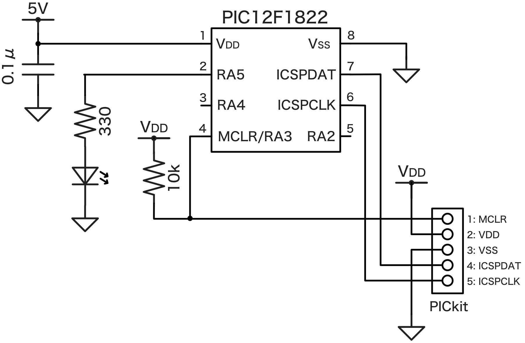 PICベース回路図簡略化版