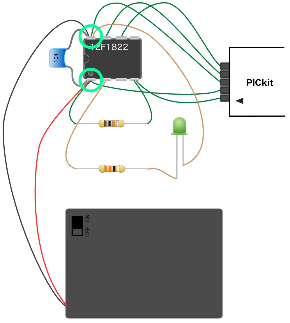 PICマイコンVDD VSSの接続