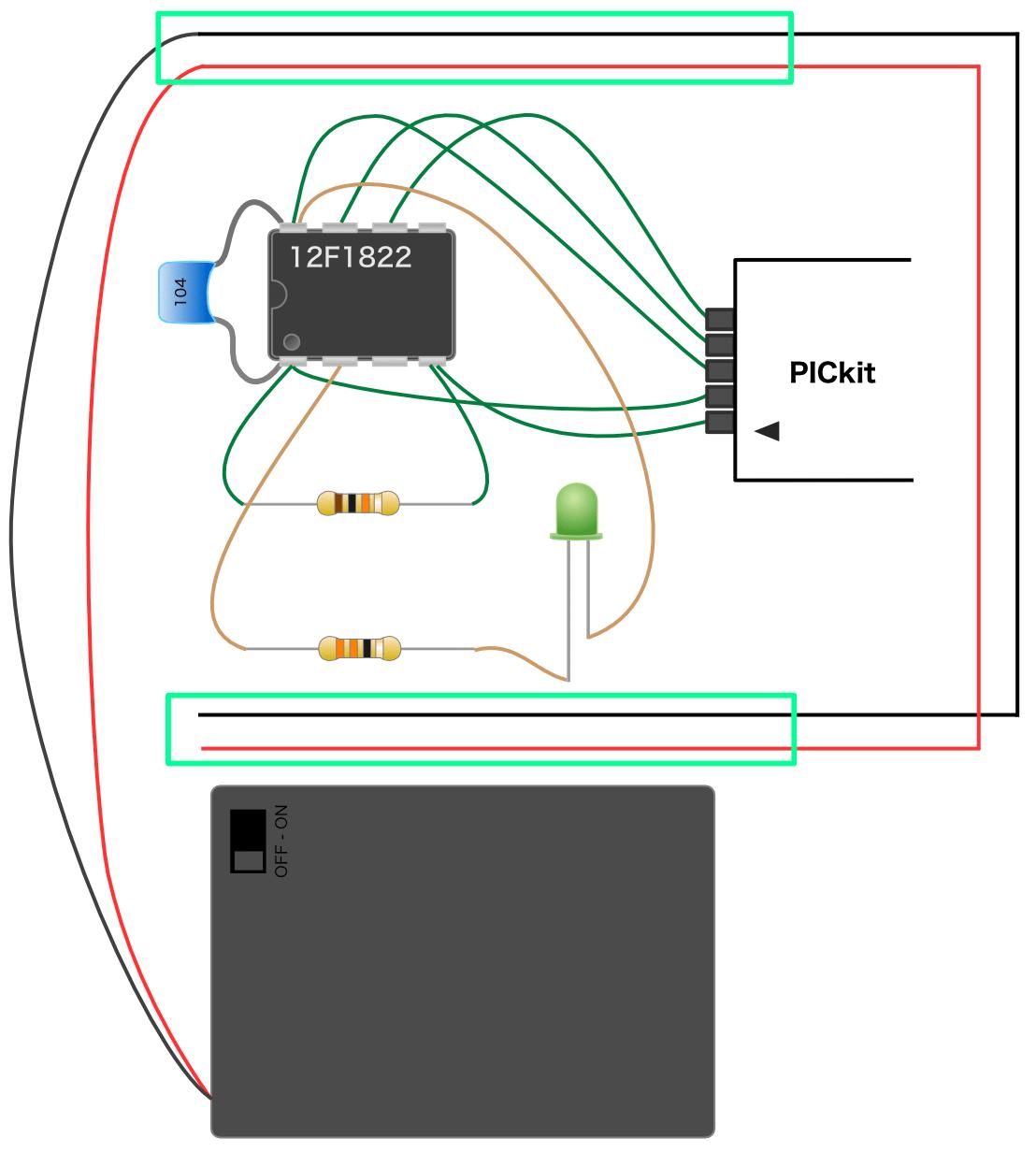 実体配線図の電源ライン