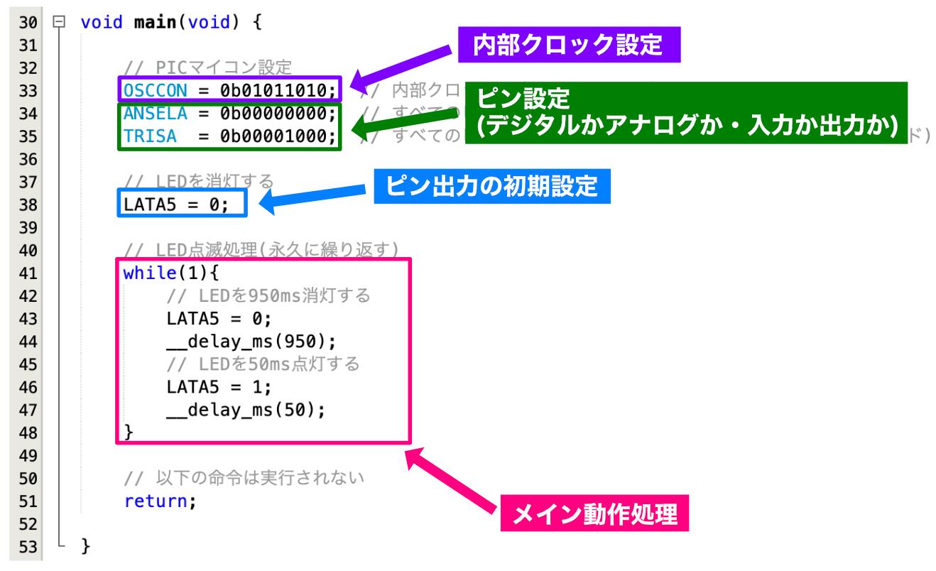 main関数基本構造