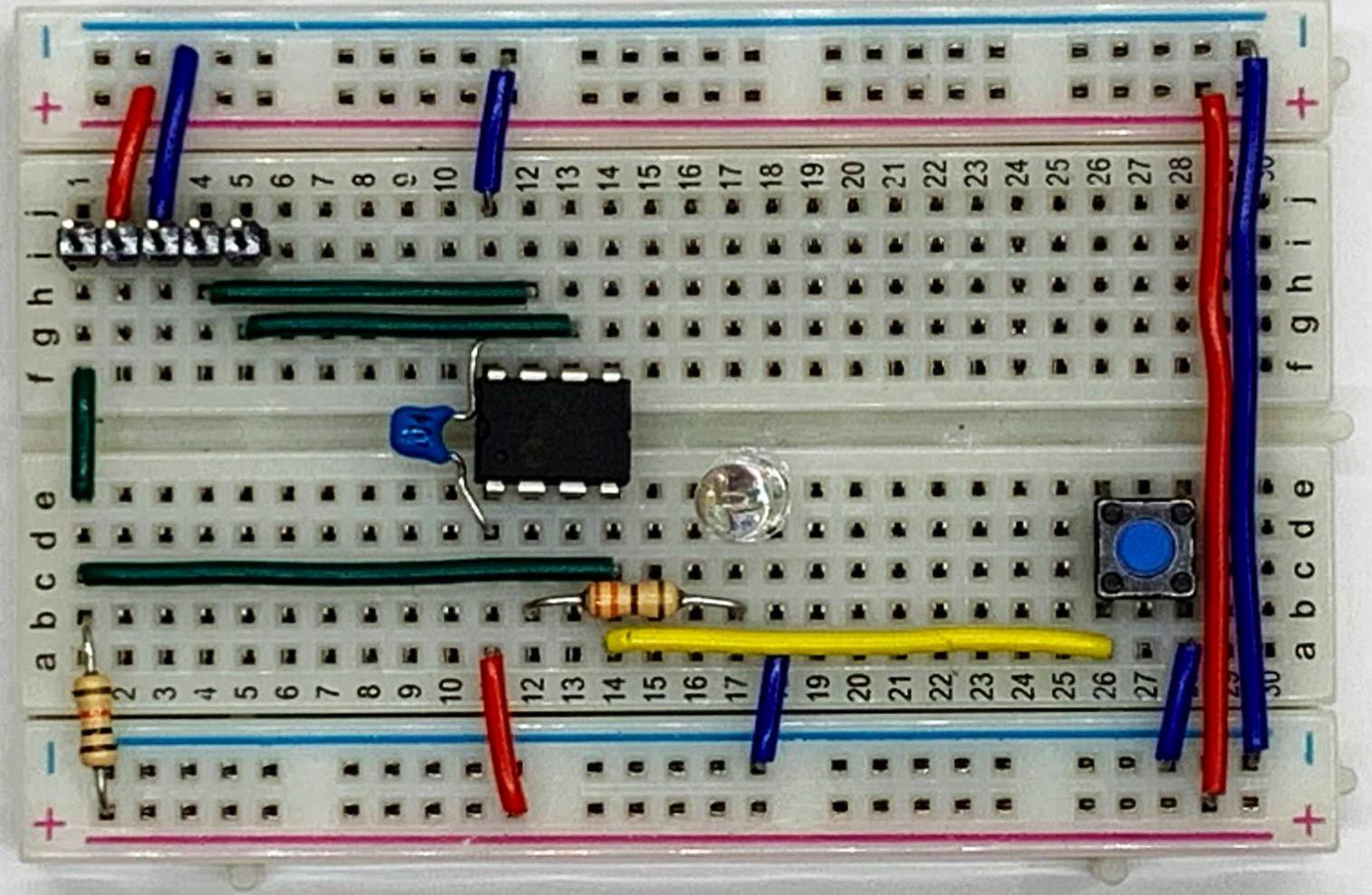 スイッチ回路追加ブレッドボード