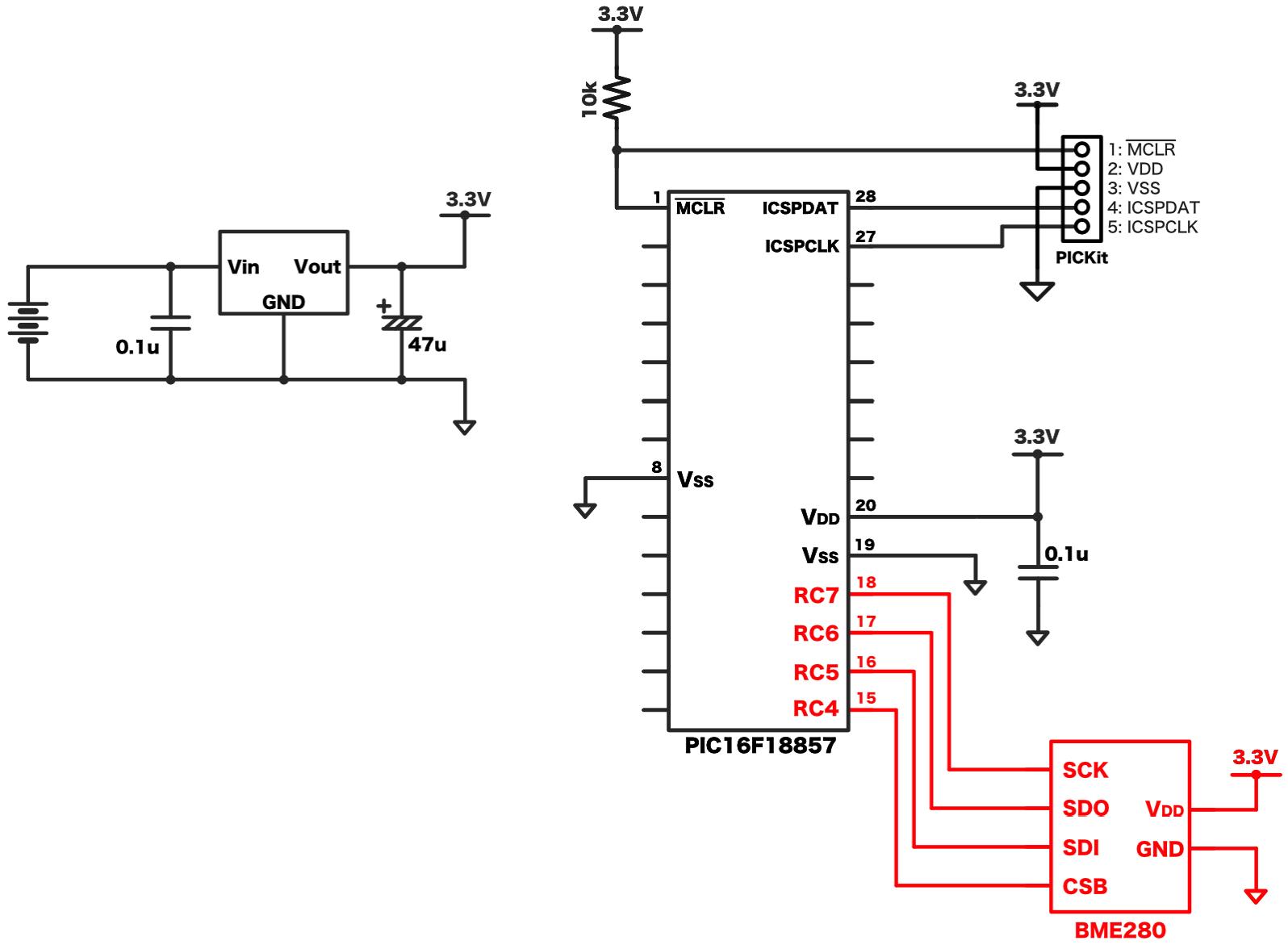 BME280接続回路