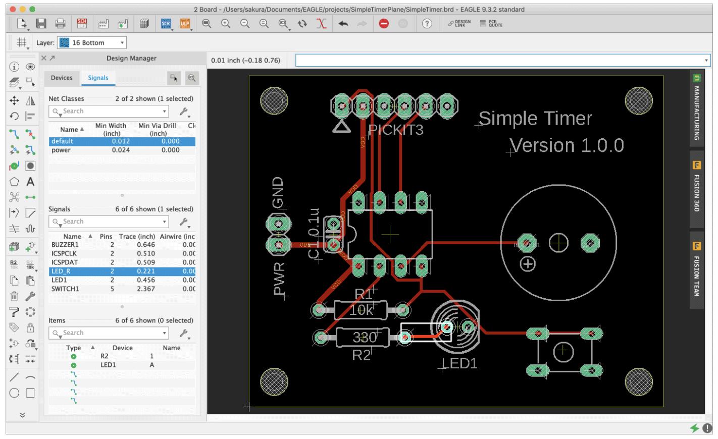 Autodesk EAGLEベタパターン作成従来方法-1