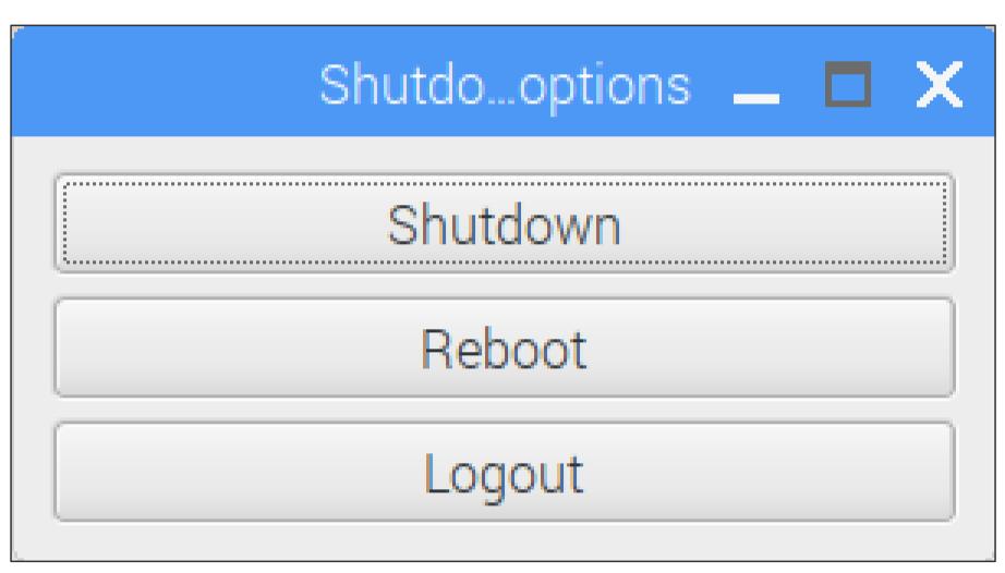 Shutdownボタン