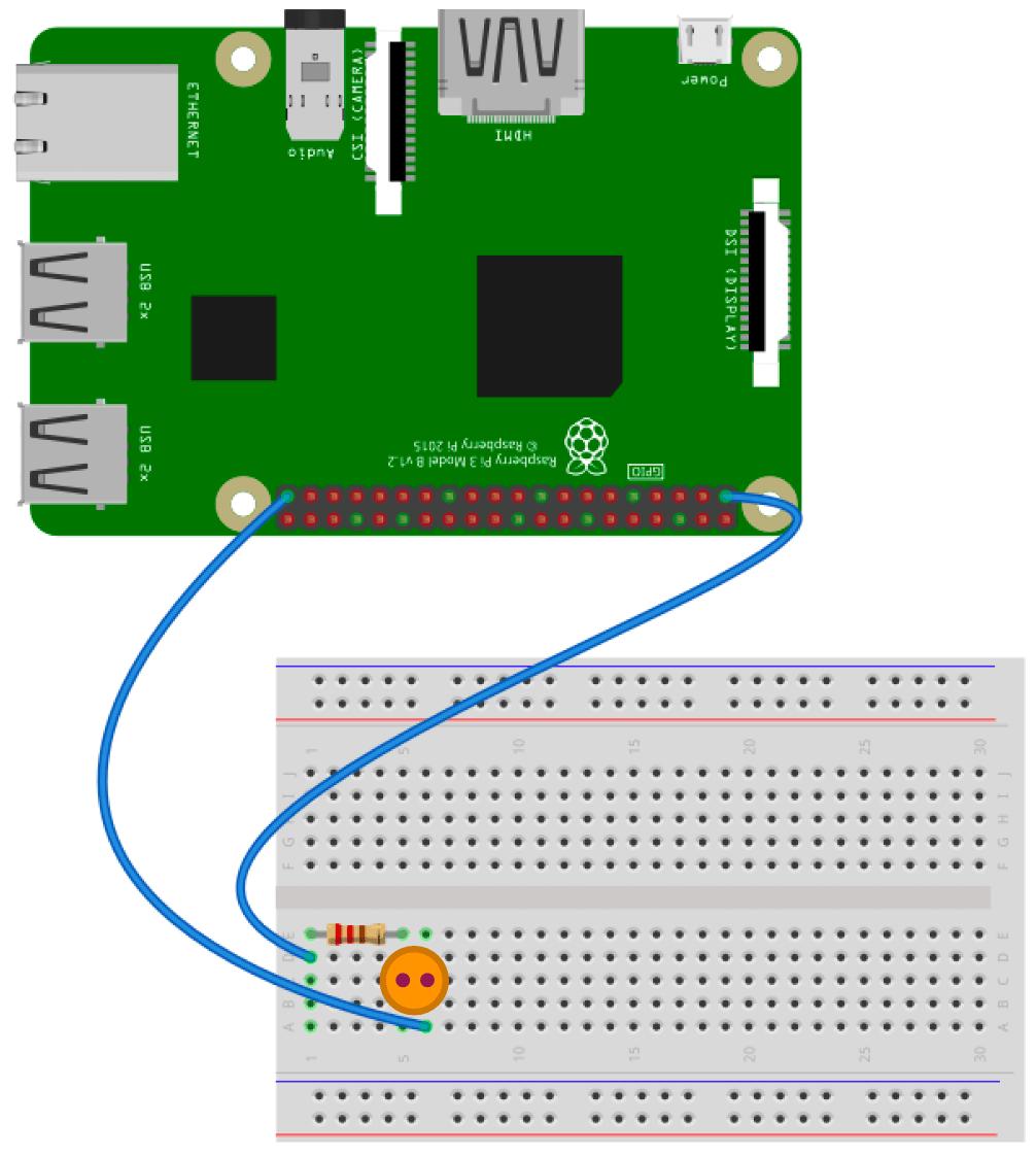 LED点灯ブレッドホード回路の他の例